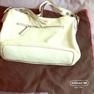 Coach Cream Soft Pebble Collection Hobo